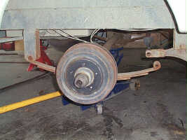 Leaf type RV axle springs
